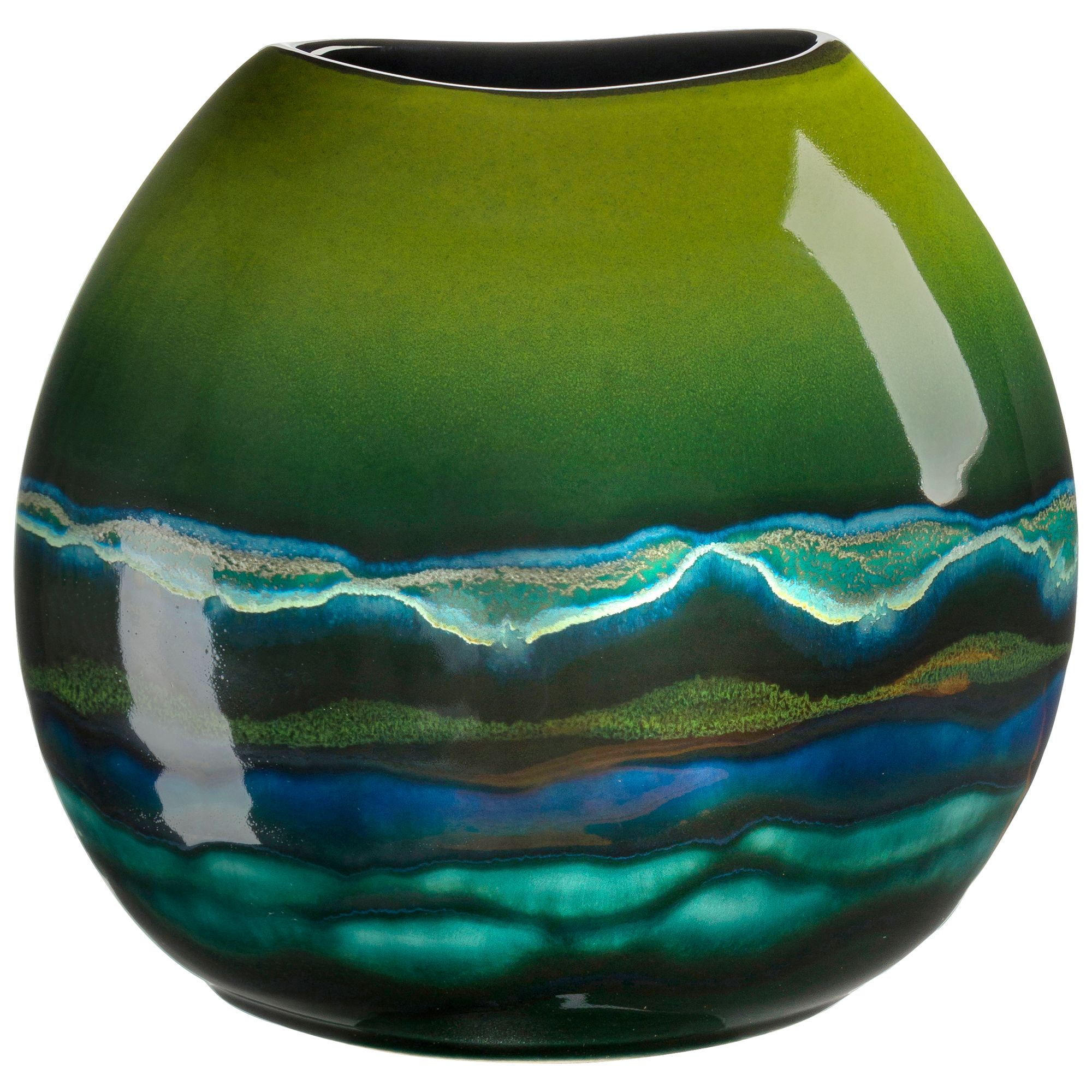 Poole Pottery Poole Pottery Maya Purse Vase, H20cm
