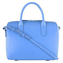 Buy Radley Bloomsbury Small Leather Grab Bag, Turquoise Online at johnlewis.com
