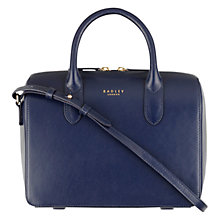 Buy Radley Bloomsbury Medium Leather Grab Bag, Navy Online at johnlewis.com