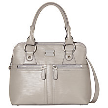 Buy Modalu Pippa Small Leather Grab Bag, Grey Online at johnlewis.com