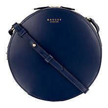 Buy Radley Bloomsbury Leather Small Across Body Bag, Navy Online at johnlewis.com