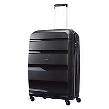 Buy American Tourister Bon Air 4-Wheel 75cm Large Suitcase, Black Online at johnlewis.com