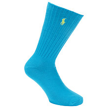 Buy Polo Ralph Lauren Ribbed Cotton Socks, One Size Online at johnlewis.com