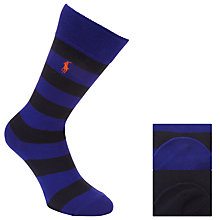 Buy Polo Ralph Lauren Rugby Socks, Pack of 2, One Size, Navy/Black Online at johnlewis.com