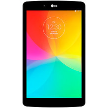 "Buy LG G Pad 8.0 Tablet, Qualcomm Snapdragon, Android, 8.0"", Wi-Fi, 16GB, Black Online at johnlewis.com"