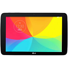 "Buy LG G Pad 10.1 Tablet, Qualcomm Snapdragon, Android, 10.1"", Wi-Fi, 16GB, Black Online at johnlewis.com"