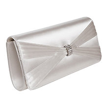 Buy Rainbow Club Belle Satin Clutch Bag, Ivory Online at johnlewis.com