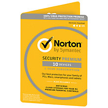 Buy Norton Security with Backup 2.0: 1 User, 10 Devices, 25GB Online at johnlewis.com