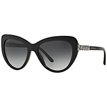 Buy Bvlgari BV8143B Butterfly Frame Sunglasses, Black Online at johnlewis.com