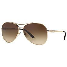 Buy Bvlgari BV6075 Pilot Metal Framed Sunglasses Online at johnlewis.com