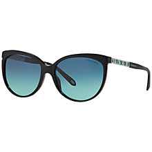 Buy Tiffany & Co TF4097 Roman Numeral Sunglasses, Black Online at johnlewis.com