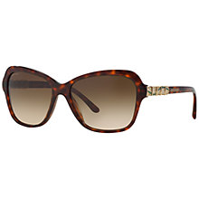 Buy Bvlgari BV8142B Butterfly Framed Sunglasses, Blonde Havana Online at johnlewis.com