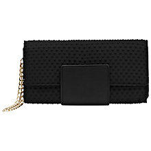 Buy French Connection Harrie Clutch Bag, Black Online at johnlewis.com