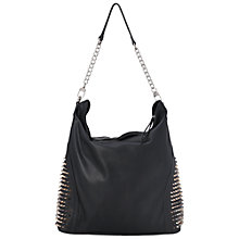 Buy French Connection Lewes Studded Hobo Bag, Black Online at johnlewis.com