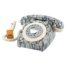Buy GPO 746 Retro Rotary Phone, Daisychain Grey Online at johnlewis.com