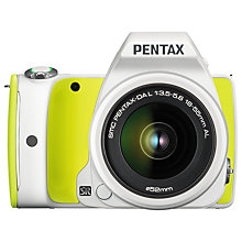 "Buy Pentax K-S1 Digital SLR Camera with 18-55mm Lens, HD 1080p, 20MP, 3"" LCD Screen, White & Green with Memory Card Online at johnlewis.com"