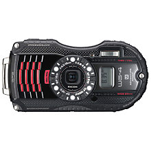 "Buy Ricoh WG-4 Waterproof Camera, HD 1080p, 16MP, 4x Optical Zoom, GPS, 3"" LCD Screen, Black Online at johnlewis.com"