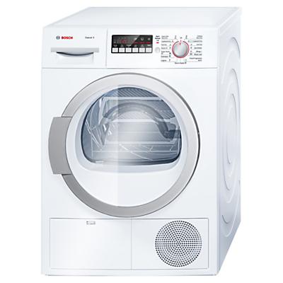 Bosch WTB86590GB Sensor Condenser Tumble Dryer, 9kg Load, B Energy Rating, White