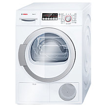 Buy Bosch WTB86590GB Sensor Condenser Tumble Dryer, 9kg Load, B Energy Rating, White Online at johnlewis.com
