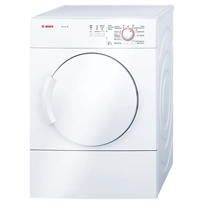 Bosch Classixx WTA74100GB Sensor Vented Tumble Dryer, 6kg Load, C Energy Rating, White