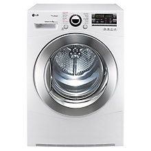 Buy LG RC8066AS2Z TrueSteam™ Condenser Tumble Dryer, 8kg Load, B Energy Rating, White Online at johnlewis.com