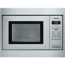 Buy Siemens HF15M552B Built-In Microwave, Stainless Steel Online at johnlewis.com