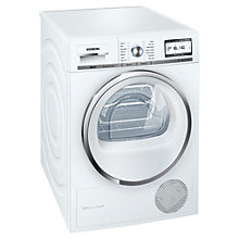 Buy Siemens WT48Y700GB Heat Pump Condenser Tumble Dryer, 8kg Load, A++ Energy Rating, White Online at johnlewis.com