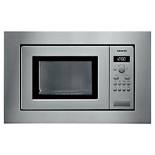 Buy Siemens HF15M562B Built-In Microwave, Stainless Steel Online at johnlewis.com