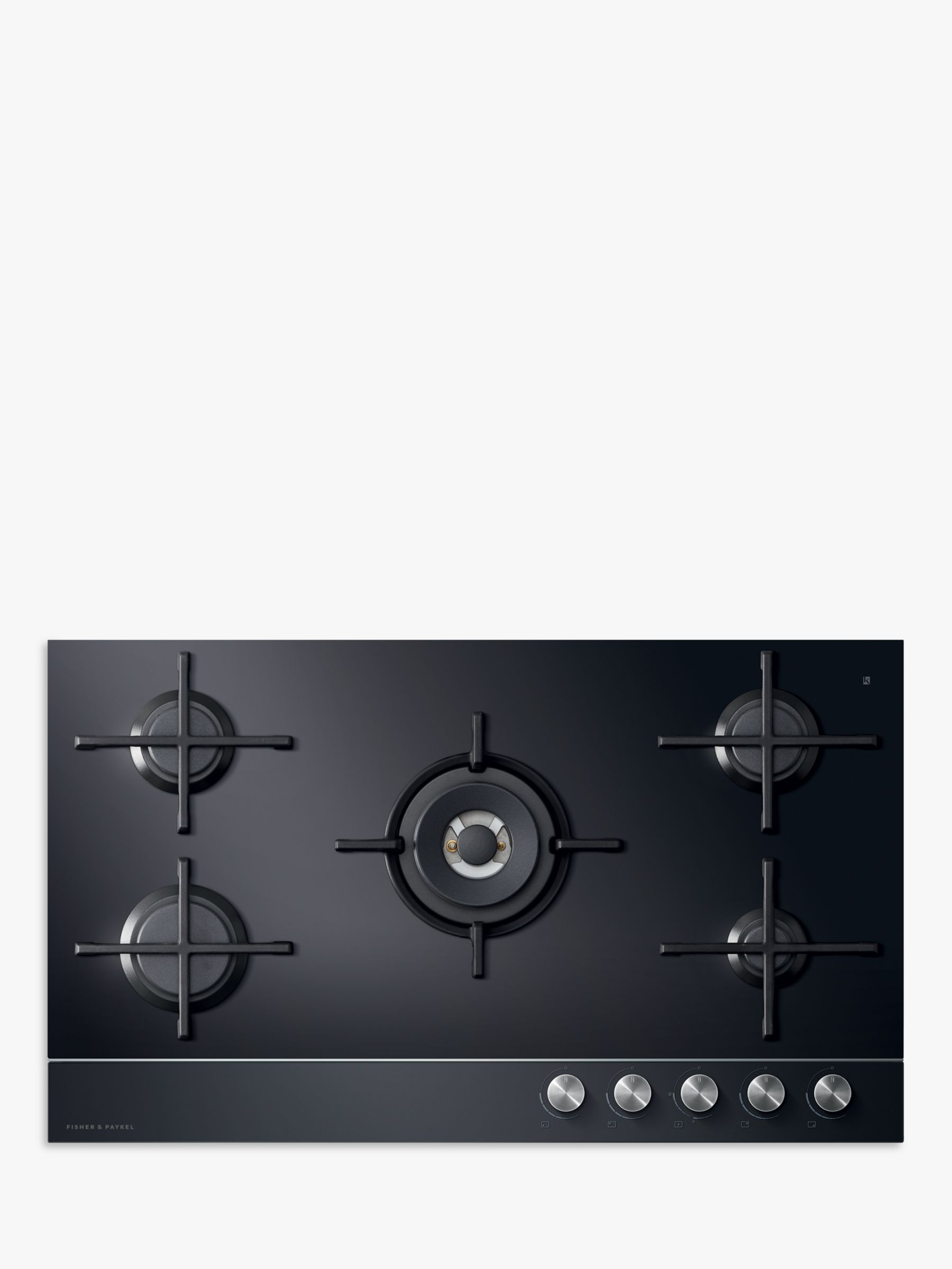 Fisher & Paykel Fisher & Paykel CG905DLPGB1 LPG Gas Hob, Black Glass