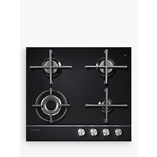 Buy Fisher & Paykel CG604DNGGB1 Gas Hob, Black Glass Online at johnlewis.com