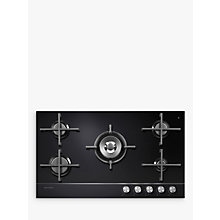 Buy Fisher & Paykel CG905DNGGB1 Gas Hob, Black Glass Online at johnlewis.com