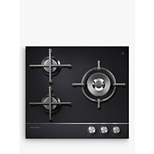 Buy Fisher & Paykel CG603DNGGB1 Gas Hob, Black Glass Online at johnlewis.com