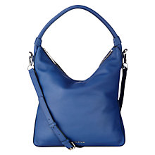 Buy Whistles Belgrave Simple Hobo Bag, Blue Online at johnlewis.com