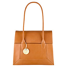 Buy Radley Border Large Leather Tote Bag, Tan Online at johnlewis.com