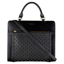 Buy Radley Clerkenwell Leather Medium Multiway Shoulder Bag, Black Online at johnlewis.com