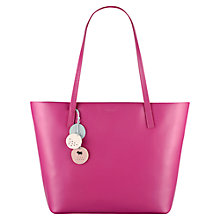 Buy Radley De Beauvoir Large Leather Tote, Pink Online at johnlewis.com
