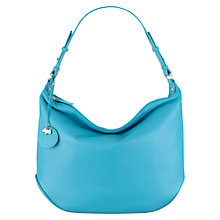 Buy Radley Turnham Green Leather Medium Shoulder Bag, Turquoise Online at johnlewis.com