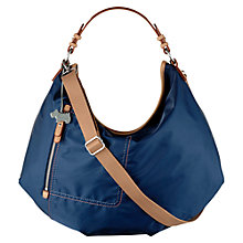 Buy Radley Tibberton Fabric Large Multiway Shoulder Bag, Navy Online at johnlewis.com