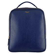 Buy Radley Victoria Park Leather Medium Backpack, Navy Online at johnlewis.com