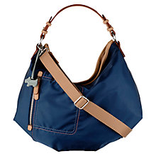 Buy Radley Tibberton Fabric Multiway Shoulder Bag, Navy Online at johnlewis.com