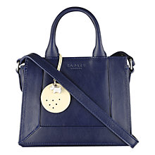 Buy Radley Border Mini Leather Multi-Way Grab Bag, Navy Online at johnlewis.com