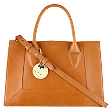 Buy Radley Small Border Multiway Leather Tote Bag, Tan Online at johnlewis.com