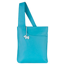 Buy Radley Pocket Bag Leather Medium Across Body Bag, Turqoise Online at johnlewis.com