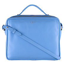 Buy Radley Victoria Park Leather Medium Across Body Bag, Blue Online at johnlewis.com