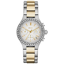 Buy DKNY NY2260 Women's Chambers Bracelet Watch, Silver/Gold Online at johnlewis.com