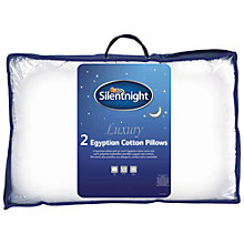 Buy Silent Night Egyptian Cotton Standard Pillows, Pair, Medium Online at johnlewis.com