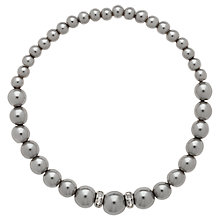 Buy Finesse Pearl & Crystal Rondel Bracelet, Grey Online at johnlewis.com