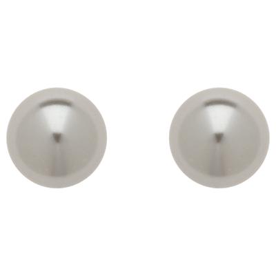 Finesse 12mm Faux Pearl Stud Earrings, Grey