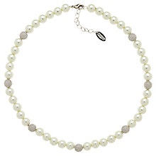 Buy Finesse Faux Pearl Rhodium Plating Ball Necklace, White/Silver Online at johnlewis.com
