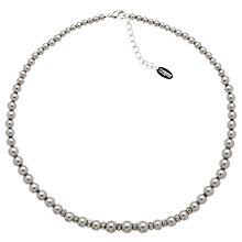 Buy Finesse Glass Pearl & Crystal Rondel Necklace, Grey Online at johnlewis.com